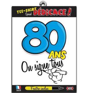 T-SHIRT T-shirt dédicace anniversaire : 80ans (x1) REF/TSO