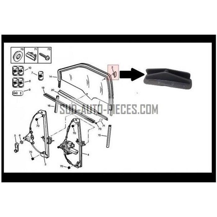 Clips Fixation Guide Leve Vitre Citroen Saxo Zx Peugeot
