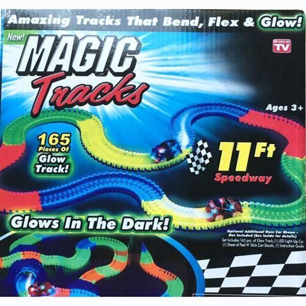 magic tracks pistes magiques lectrique voiture bricolage assembl cadeaux de no l voiture de. Black Bedroom Furniture Sets. Home Design Ideas