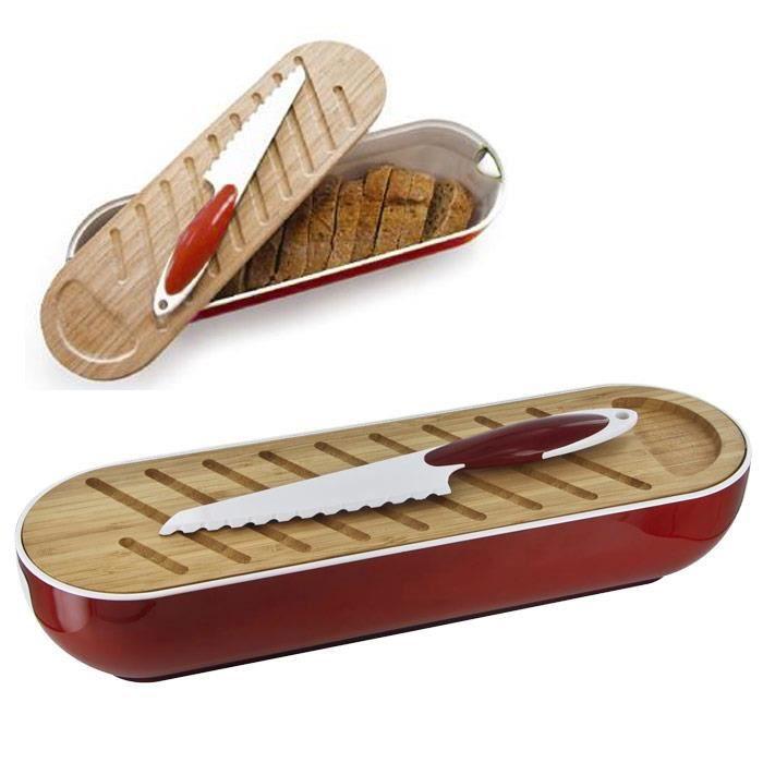 corbeille pain 3 en 1 planche bambou couteau achat vente boites de conservation. Black Bedroom Furniture Sets. Home Design Ideas