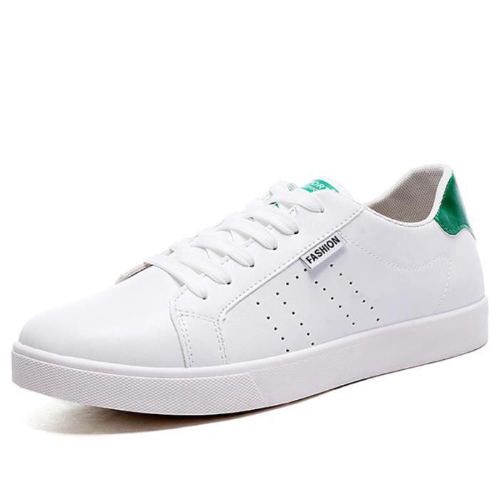 Chaussures De Sport Pour Hommes En Cuir Basket Haute Qualité GD-XZ128Vert43 kxL1dew