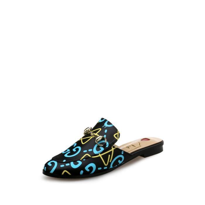 Chaussons Graffiti élégant fermé Chaussures Toe femmes 4920684