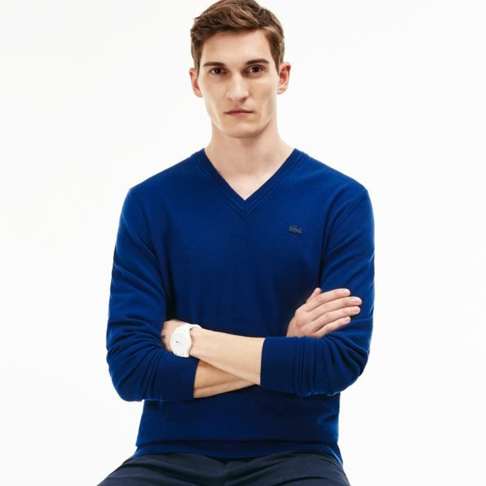 Bleu Achat V Pull Col Vente Lacoste Homme Soldes xtOXXw6Iq