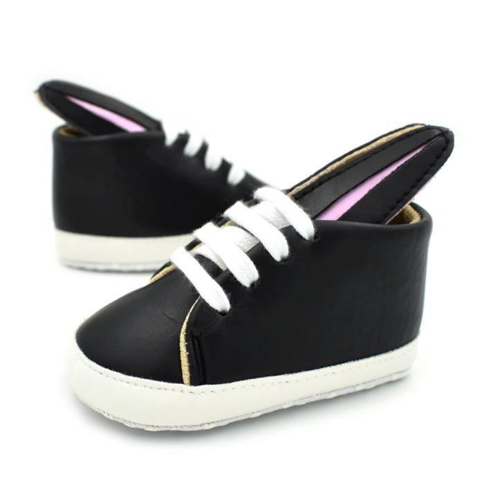 BOTTE Enfants Chaussures Filles Lapin Oreilles Sneakers Fille Bébé Chaussures Sport Enfants Chaussures@Noir 7VFGMtSyPc