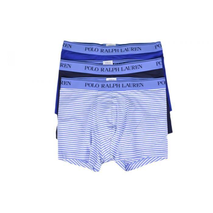 Lot de 3 boxers Ralph Lauren bleu pour homme - Cou 867b53f657c