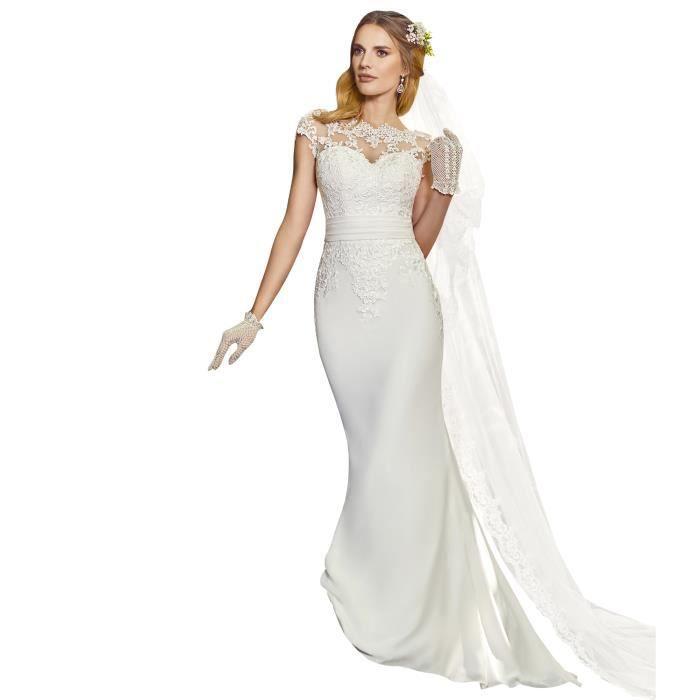 8340fc99508 Point Mariage Robe de mariée Siréne Femme AH18 Ivoire - Achat ...