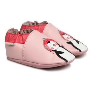 bdaaa653c4726 ... CHAUSSON - PANTOUFLE Robeez Chaussons Cuir Pingouin Rose (21-22 (12 18  ...