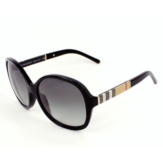 95f57354461df7 Lunettes de soleil Burberry BE4178 -3001-11 Noir Noir - Achat   Vente  lunettes de soleil Femme - Soldes  dès le 9 janvier ! Cdiscount