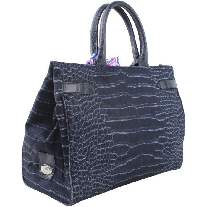 Printed Signature Medium Crocodile Handbag, Style H15fb112m EZCFU