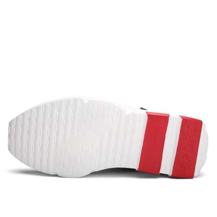 Botte Homme Velcro chaud Basketball de plate-forme pour hommes noir-blanc taille42