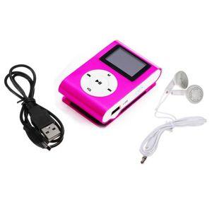 LECTEUR MP3 Clip métal numérique Lecteur MP3 écran LCD pour 2-