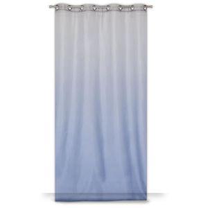 VOILAGE Voilage GRADIENT 8 oeillets 140 x 260 cm - Bleu