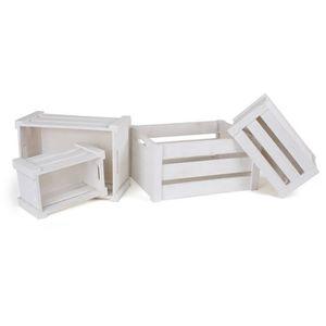 MARCHANDE Caisse de bois blanche
