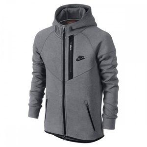 2c408cb6f237 Sweat Nike Tech Fleece Windrunner Full-Zip Junior - 728205-091 Gris ...