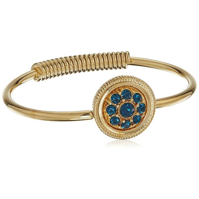 1928 Jewelry 14k Gold-dipped Spring Hinge Cuff Bracelet ZOWU0
