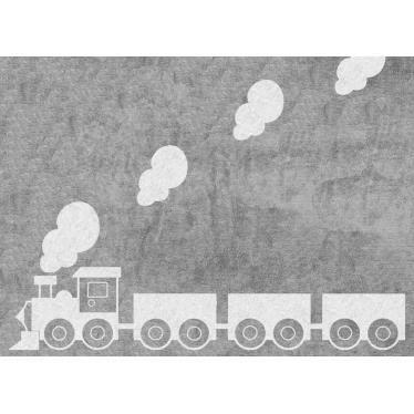 Tapis train en coton gris lavable - Achat / Vente tapis éveil - aire ...