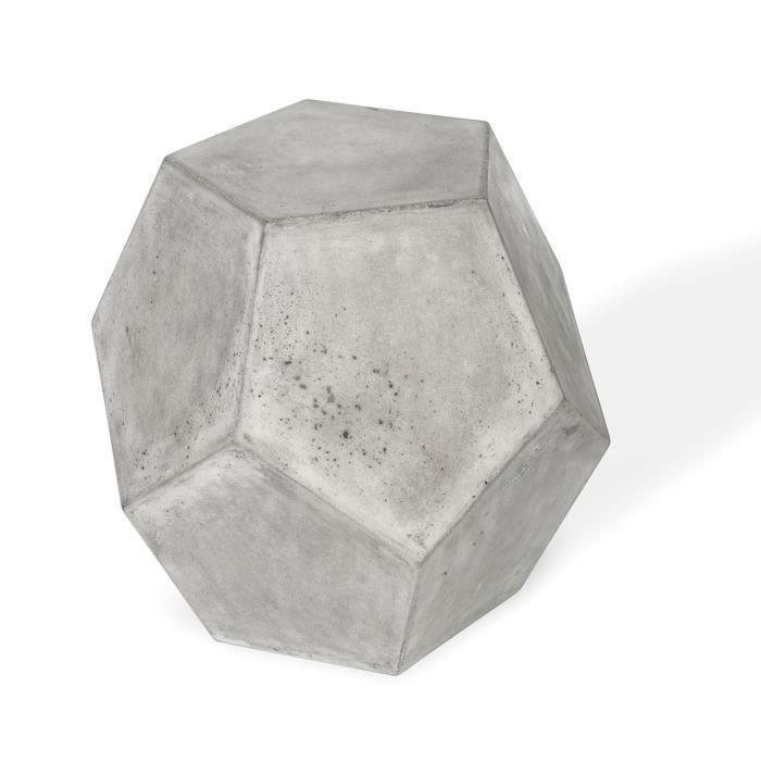 TABOURET Tabouret décoratif en béton diamant - bout de cana
