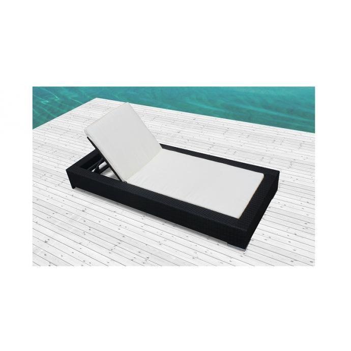 sunshine bain de soleil en r sine tress e noir achat vente chaise longue sunshine bain. Black Bedroom Furniture Sets. Home Design Ideas