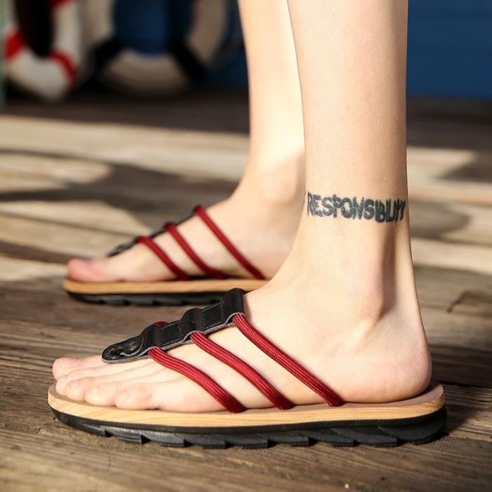 Sandal Chaussures de plein air sandalettes Casual de printemps Nouveaux hommes OIwei40vR5