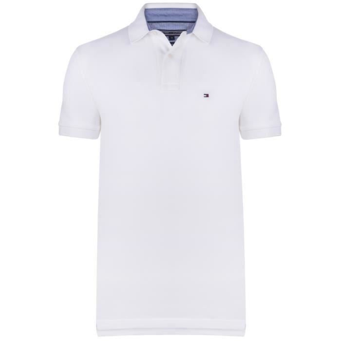 polo tommy hilfiger blanc pas cher