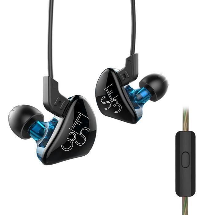 Okcsc Zs3 Sport Écouteurs Câblés Acoustiques Casque D'écoute Hifi Deep Bass Dans L'oreille Moniteur Pour Iphone, Sa
