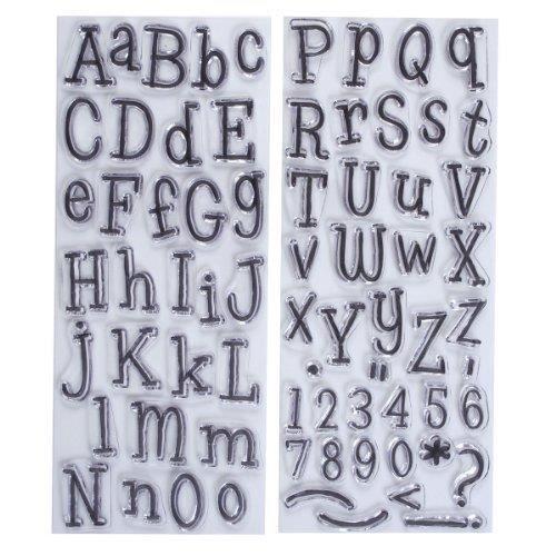 TAMPON DÉCORATIF Papermania Leftovers Lot De 2 Tampons Alphabet Tra