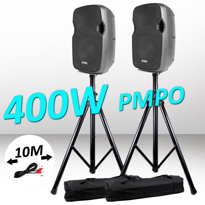 PACK SONO Pack Sonorisation 2 Enceintes Actives amplifiées P