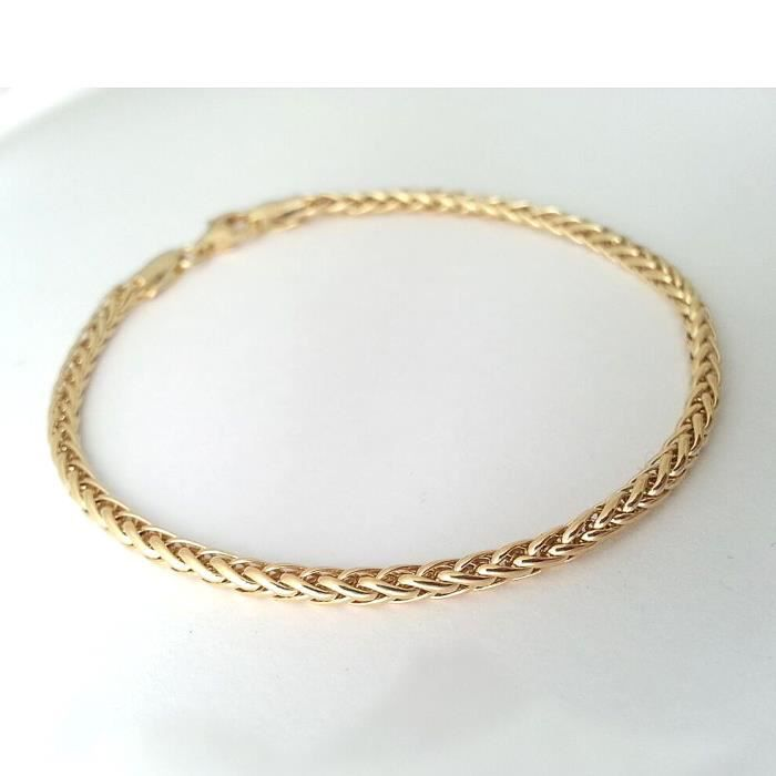 DIAMANTLY Bracelet maille palmier or 18 carats