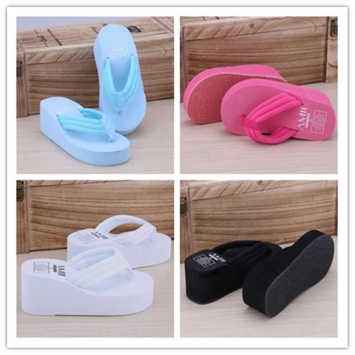 en ciel D'été Non-Slip Sandales 2017 Femme Pantoufles Pour Femmes Tongs Sandales Plate-Forme Intérieure Tongs Pantoufles Sandales 3eoEc9CpI