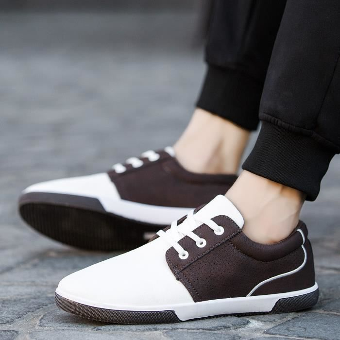 Hommes Casual Chaussures Automne Chaussures Hommes Mocassins Adulte Mocassins Mâle Chaussures XYM80309903WH blanc AAvGxbQfG