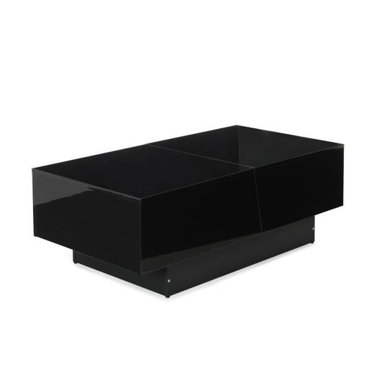 Pero Table basse noire avec rangement de bar intégré - Achat / Vente ...