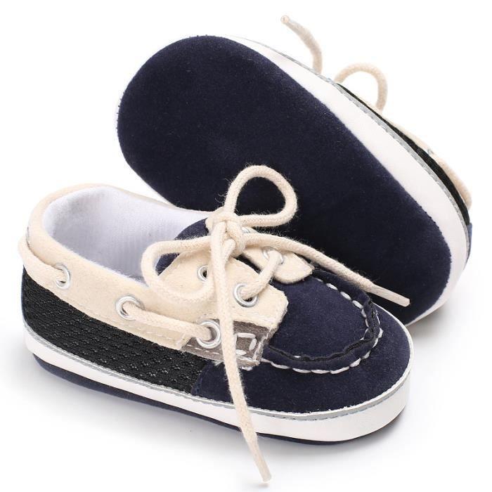Chaussures de bébé Printemps et automne Nouveau Tendance Loisirs Rayures Bébé Fond mou Chaussures de toile xlKlasM