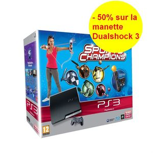 CONSOLE PS3 PACK PS3 320 Go MOVE SPORTS CHAMPIONS