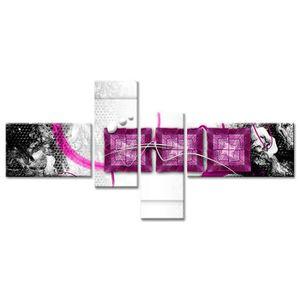 TABLEAU - TOILE Tableau Déco Moderne Carrés par Trois - Abstrait -
