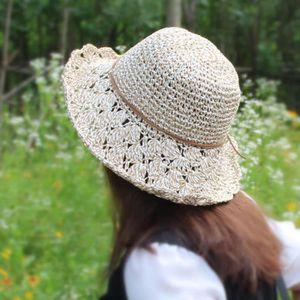 CHAPEAU - BOB Femmes pliables grand bord crochet été tricot West