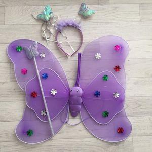 cedf835395 DÉGUISEMENT - PANOPLIE Fée Papillon Violet - Déguisement costume bébé/enf
