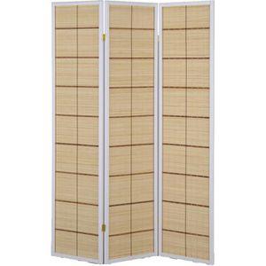PARAVENT Paravent intérieur à 3 panneaux en bambou avec str