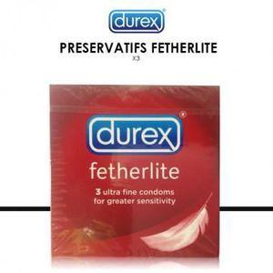 PRÉSERVATIF DUREX - Fetherlite - 3 Préservatifs