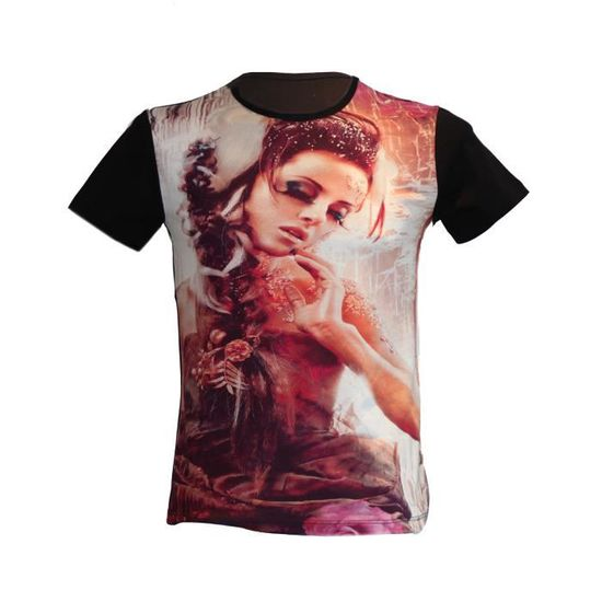 6b7e87d9882 T-shirt motif femme