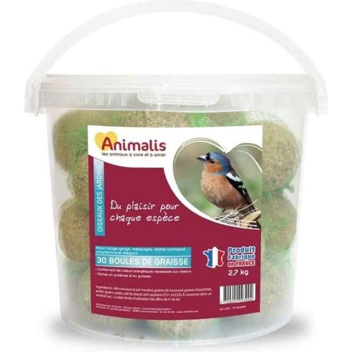 6305cd8b8ed8a Animalis - Boules de Graisse pour Oiseaux des Jardins - x30 - Achat ...