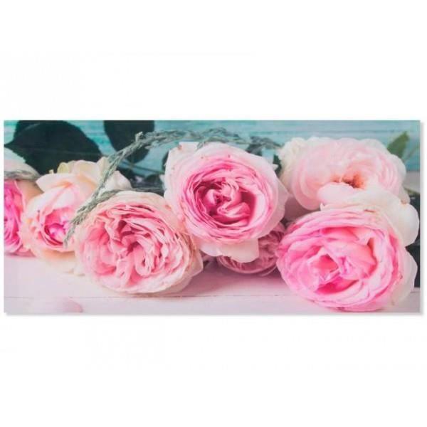 Cadre Toile Fleur Rose Romantique 79 X 38 Cm D Achat Vente
