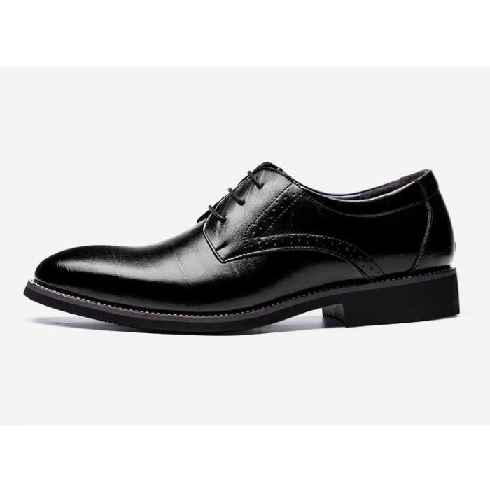 chaussures en cuir homme de la mode bout pointu... ea3Yv0YPlv