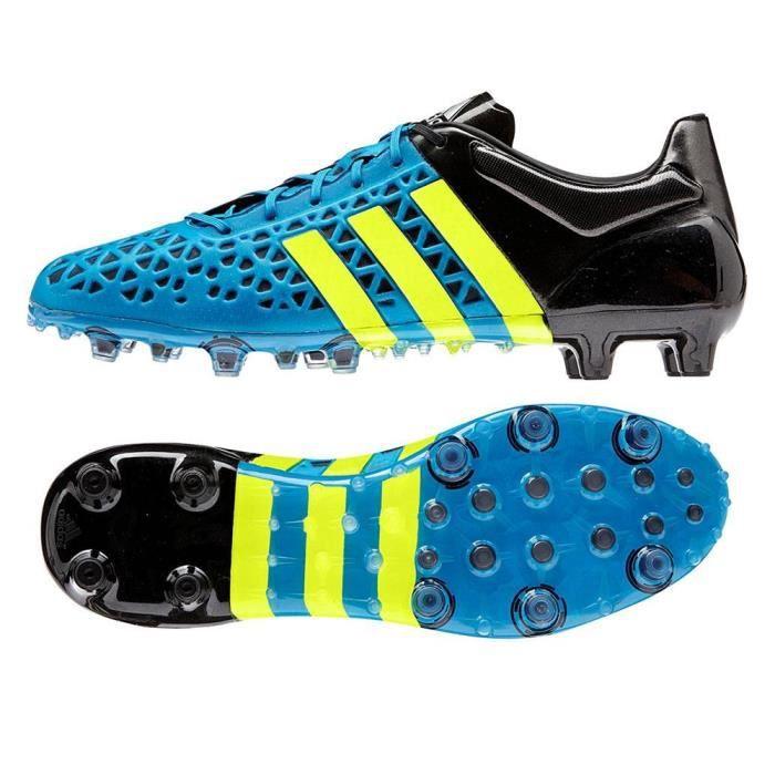 meet a7487 f2f3b ... switzerland chaussures de football adidas ace 15.1 fg ag bleu solaire  et jaune b3 0819a 9e0c1