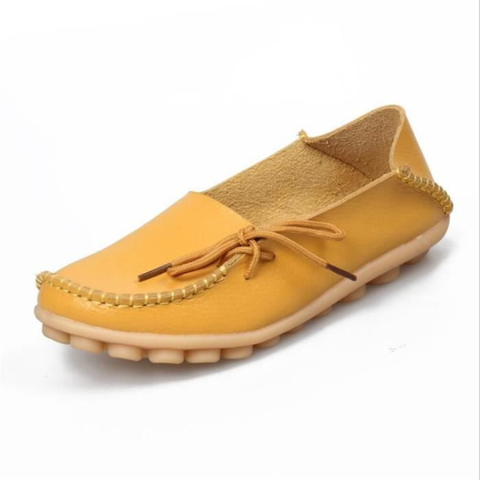Moccasin femmes nouvelle marque de luxe 2017 ete Respirant Loafer Confortable Respirant chaussures cuir Grande Taille OOVLmETd0Q