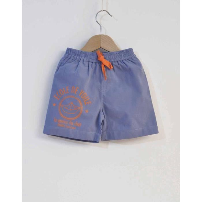 e1dd8778805ae La Queue du Chat - Le Maillot Surf Enfant Coton Bio - (24 M) Bleu ...