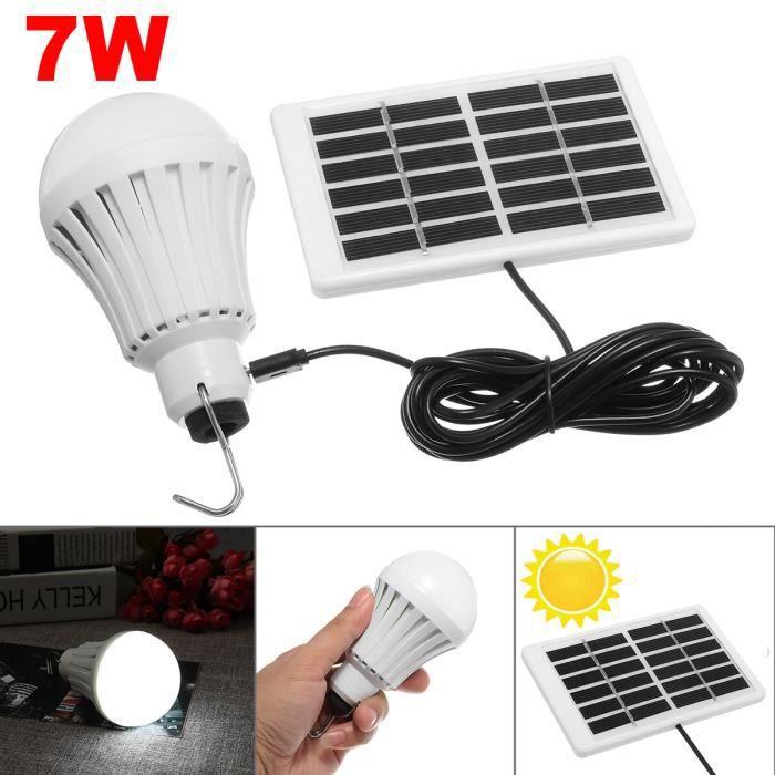 72c3dab988027 Ampoule avec panneau solaire - Achat / Vente pas cher