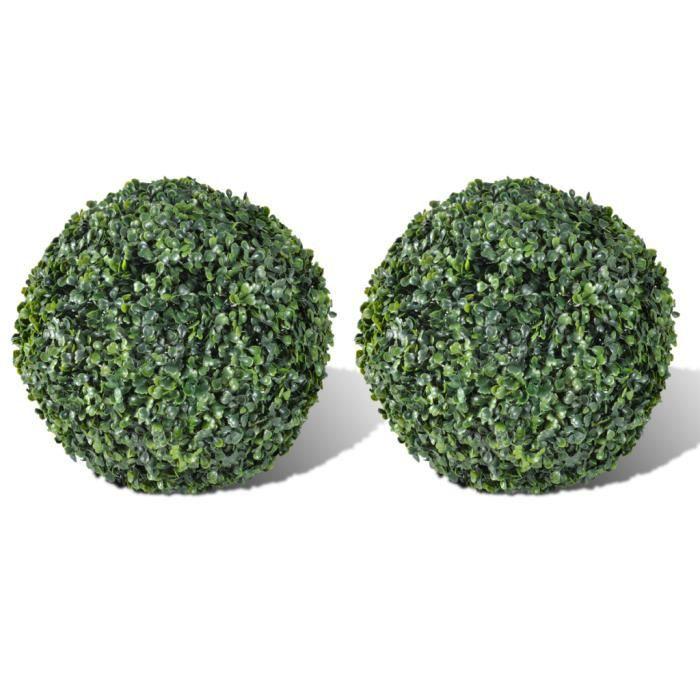 FLEUR ARTIFICIELLE 2 pièce de boule artificiel plante intérieur extér