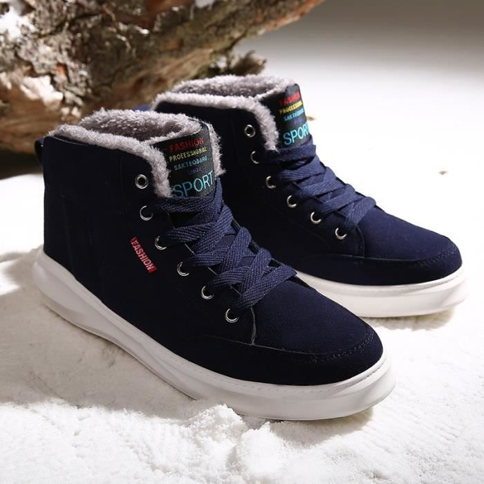 Botte Homme d'hiver loisirs épais Sole High Top Skater noir taille45