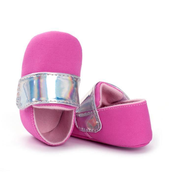 BOTTE Nouveau-né nourrisson bébé filles bowknot crèche chaussures à semelle souple anti-dérapant sneakers@RougeHM NsGFcquEy