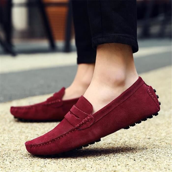 Moccasin homme 2017 nouvelleRespirant Loafer Grande Taille chaussures marque de luxe chaussure 2017 eteNouvelle Mode hommes 38-45 KpGsjW
